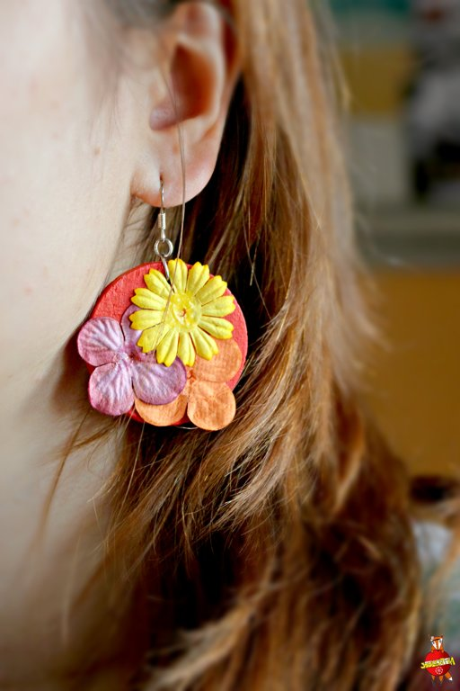 "wooden earrings ""Scrapbooking"""