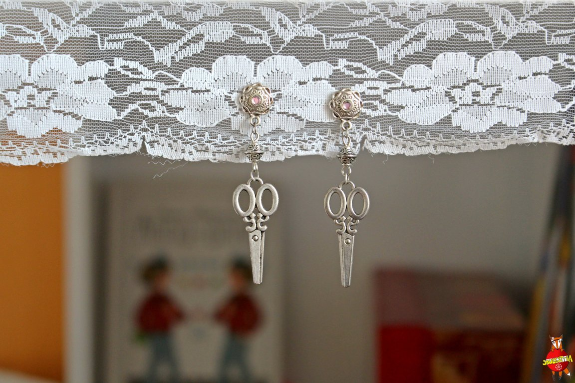 "earrings ""for Hairdresser"""