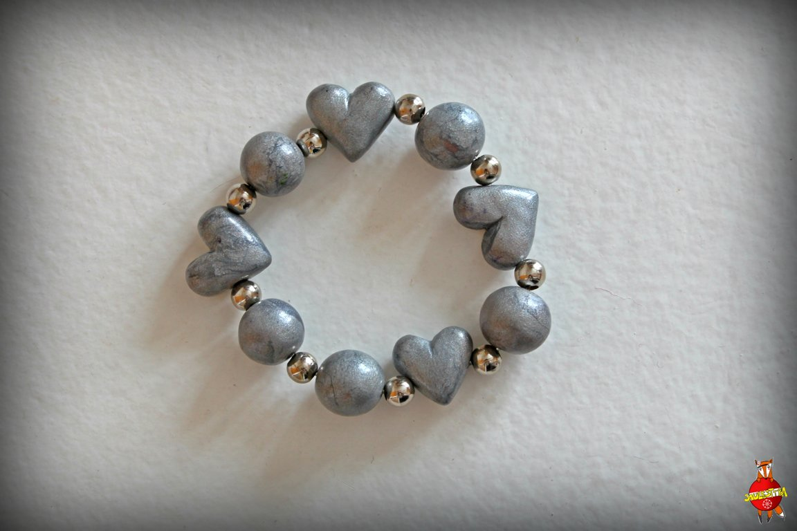 "Bracelet ""Hearty"" gray"