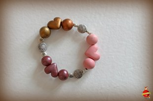 "Bracelet ""Hearty"" red tones"