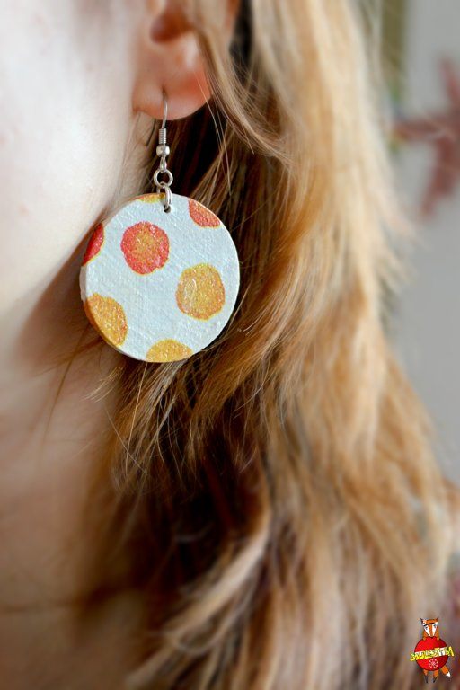 "wooden earrings ""Bubbles"""