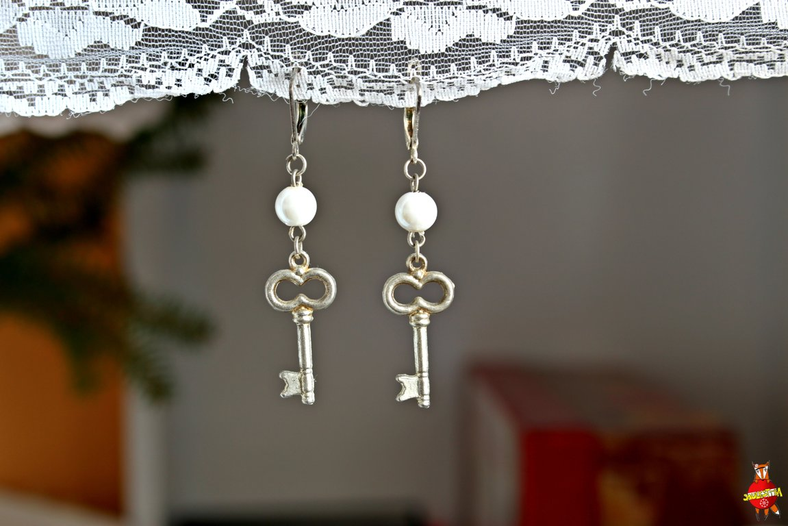 "earrings ""A key from my heart"""