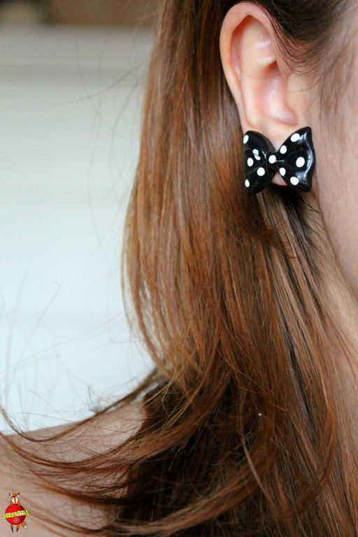 "earrings ""Mod girl"""