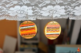 "wooden earrings ""Orange mood"""