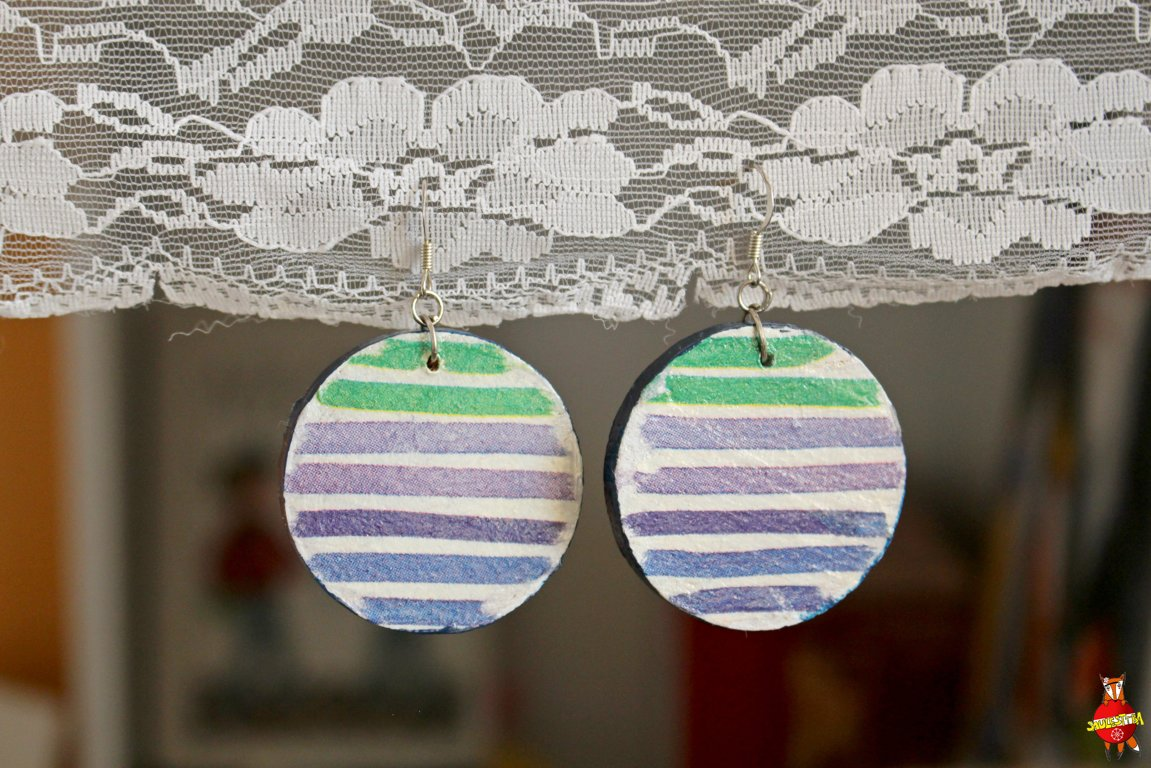 "wooden earrings ""Stripes"""