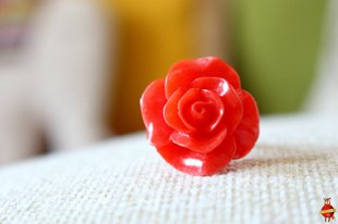 "ring ""Scarlet flower"""